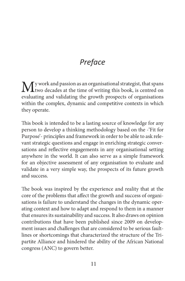 Fit For Purpose - Preface